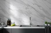 Revêtement mural ELEMENT 3D PREMIUM Bianco Volakas  lames ép.6mm larg.500mm long.2600mm - Lambris - Revêtements décoratifs - Menuiserie & Aménagement - GEDIMAT