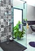 Paroi de douche SELECT + 120cm Haut.200cm chromé - Portes - Parois de douche - Salle de Bains & Sanitaire - GEDIMAT