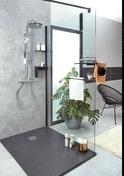 Paroi de douche SÉLECT+  Haut.200cm paroi de 120cm Noir mat - Portes - Parois de douche - Salle de Bains & Sanitaire - GEDIMAT