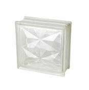 Brique de verre 198 ép.8cm dim.19x19cm PYRAMIDE - Brique de verre 1910 ép.10cm dim.19x19cm nuagée - Gedimat.fr