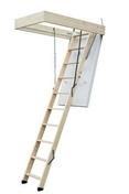 Escalier escamotable ISOCLIC PRO 56 140X70cm en Hêtre avec bloc-trappe - Mastic sanitaire silicone SA cartouche 300ml blanc - Gedimat.fr