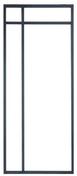 Porte alu suspendue VAIE Clair 2040x83mm - Porte alu suspendue VAIE Clair 2040x73mm - Gedimat.fr