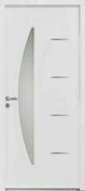Porte d'entrée CEDOUSA en acier finition blanche droite poussant haut.2,15 m larg.90 cm dormant 120mm - Portes d'entrée - Menuiserie & Aménagement - GEDIMAT