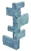 Angle TRAVERTIN SPLIT FACE INDIGO boîte de 6 angles - Briques et Plaquettes de parement - Revêtement Sols & Murs - GEDIMAT