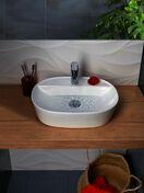 Vasque à poser VARMEGA céramique fine Blanche - Meubles de salles de bains - Salle de Bains & Sanitaire - GEDIMAT