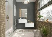 Meuble bas 1 tiroi avec plateau à suspendre PASSION - Long. 59,9 cm Haut. 32 cm Prof. 46 cm Blanc - Meubles de salles de bains - Salle de Bains & Sanitaire - GEDIMAT