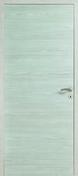 Bloc porte INDA pleine huisserie 72mm à 110mm coloris Chêne blanc haut.2,04m larg.83cm poussant gauche - Bloc-porte FUJI haut.2,04m larg.83cm gauche poussant revêtu mélaminé finition frêne blanc - Gedimat.fr