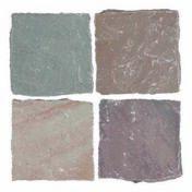 Pavé carré en grès indien Cobles 140x140mm multicolore - Pavés - Dallages - Aménagements extérieurs - GEDIMAT