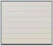 Porte de garage sectionnelle EUROPRO EVOLUTION motorisée en acier motif rainuré ép.42mm haut.2,125m larg.2,50m coloris blanc - Portes de garage - Menuiserie & Aménagement - GEDIMAT