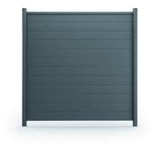 Lame aluminium pour clôture Claustra ép.21mm larg.148mm long.1.797m Gris Anthracite sablé RAL 7016 - Ecrans - Clôtures - Aménagements extérieurs - GEDIMAT