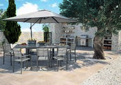 Table aluminium Elise. Dim. 140/240cm larg. 90cm Coloris gris - Salons de jardin - Plein air & Loisirs - GEDIMAT