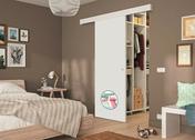 Porte en applique prêt à peindre - Portes d'intérieur - Menuiserie & Aménagement - GEDIMAT