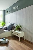 Lambris revêtus LOGIFINO ép.10mm Larg.190mm Long.1,30m Chêne fissuré clair - Revêtement mural ELEMENT 3D PREMIUM ASPECT BOIS lames ép.6mm larg.500mm long.2600mm Nordic - Gedimat.fr