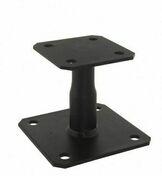 Pied de poteau réglable 100.150 Finition noire - Équerre de structure finition noire 90mm x 100mm x 100mm ép.2mm - Gedimat.fr