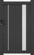 Portillon battant ALIA en aluminium haut.1.60m larg.entre piliers 1,05m réversible coloris gris RAL 7016STR - Motorisation de portail à bras articulés XA432KM MOOVO - Gedimat.fr