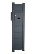 Totem Boîte aux lettres Aluminium gris 7016 haut.1m60 larg.43cm - Boîtes aux lettres - Quincaillerie - GEDIMAT