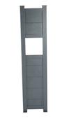 Totem Boîte aux lettres Aluminium gris 7016 haut.1m80 larg.43cm - Boîtes aux lettres - Quincaillerie - GEDIMAT