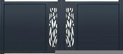Portail battant NEO18 en aluminium haut. 1,80m larg. 3,50m coloris gris 7016  - Portier intelligent connecté HI FENOTEK - Gedimat.fr