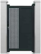 Portillon NEO7 en aluminium haut. 1,80m larg. 1,00m coloris gris 7016  - Parquet massif à coller MERBAU ép.14mm larg.140mm long.400 à 1800mm verni naturel - Gedimat.fr