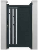 Portillon NEO2 en aluminium haut. 1,80m larg. 1,00m coloris gris 7016  - Bain douche ELLIOT finition gris et chromé - Gedimat.fr