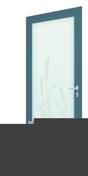 Porte d'entrée Aluminium ROSEAU droite poussant haut.2,15m larg.90cm laqué gris - Portes d'entrée - Menuiserie & Aménagement - GEDIMAT