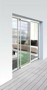 Baie coulissante CONSENSUS2 en aluminium coloris blanc 9016 haut.2,0m larg.2,40m - Fenêtres - Portes fenêtres - Menuiserie & Aménagement - GEDIMAT