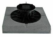 Dalle stabilisatrice béton pour plot vérin 280x280x50mm - Lame de terrasse Composite FOREXIA ELEGANCE lisse lisse ép.23mm larg.180mm long.4m Gris Gris Anthracite - Gedimat.fr