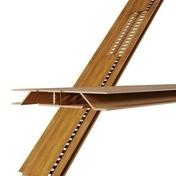 Grille de ventilation dissimulée ép.12 mm larg.92 mm long.4 m Chêne - Grilles de ventilation - Chauffage & Traitement de l'air - GEDIMAT