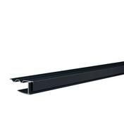 Profilé de bordure clipsable ép.15 mm larg.38 mm long.4 m gris anthracite - Lambris sous face PVC extérieur ép.10 mm larg.250 mm utile (264,5 hors tout) long.4 m Gris anthracite - Gedimat.fr