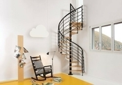 Escalier modulaire OAK XTRA en kit colimaçon diam.110cm - Escaliers - Menuiserie & Aménagement - GEDIMAT