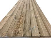 Lame de terrasse Pin Sylvestre Classe 4 traitement autoclave vert Long.3,00m larg.120mm Ép.20mm - Terrasses en bois - Aménagements extérieurs - GEDIMAT