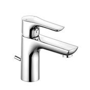 Mitigeur KLUDI LIFE finition chromé lavabo PM - Mitigeur TYRIA Haut.29,3cm cartouche de 35 mm douille.diam.44mm chrome noir - Gedimat.fr