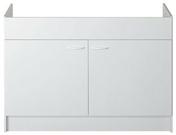 Meuble sous évier à poser SINOP 2 portes 100 x 60 cm - Meubles sous-évier - Cuisine - GEDIMAT
