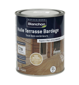 Huile Terrasse Bardage Bois naturel 1L - Traitements curatifs et préventifs bois - Couverture & Bardage - GEDIMAT