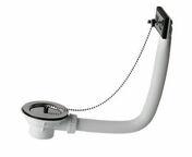 Bonde à bouchon avec enjoliveur, pour évier grès avec trop plein percé en diam.60 mm - Vidages - Salle de Bains & Sanitaire - GEDIMAT