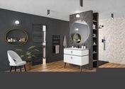 Carrelage pour mur intérieur CROMAT ONE - Carrelage pour mur intérieur CROMAT ONE en faience mate 25cmx75cm Ép.10,10 mm coloris White - Gedimat.fr