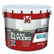 Peinture glycéro blanc mat  - pot 10l - Peintures - Peinture & Droguerie - GEDIMAT