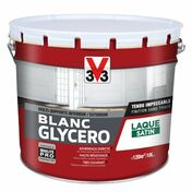 Peinture glycéro blanc satin  - pot 10l - Peintures - Peinture & Droguerie - GEDIMAT