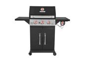 Barbecue gaz 3 brûleurs + 1 brûleur latéral PERTH Noir - Barbecues - Fours - Planchas - Plein air & Loisirs - GEDIMAT