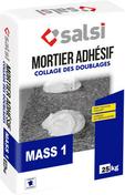 Mortier adhesif MASS1 - sac de 25kg - Doublage polystyrène expansé hydrofuge PLACOMUR P marine 13+100 - 2,70x1,20m - R=2,65m².K/W - Gedimat.fr