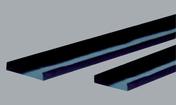 Semelle PVC rigide - 70mm 3m - Escalier à pas décalé ZEN en acier/bois haut.2.31/2.80m - Gedimat.fr