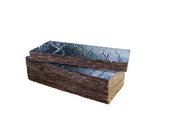 Laine de verre SOUDALLE ALU 32 - 1,35x0,6m Ep.100mm - R=3,15m².K/W. - Dalles - Terrasses - Isolation & Cloison - GEDIMAT
