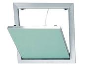 Trappe de visite alu/plaque - 600x600mm - Doublage polystyrène expansé hydrofuge PLACOMUR P marine 13+100 - 2,70x1,20m - R=2,65m².K/W - Gedimat.fr