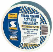 Ruban double face acrylique pour pare vapeur 65mm - 30m - Accessoires isolation - Isolation & Cloison - GEDIMAT