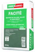 Mortier de collage calage et sous-enduit FACITE - sac de 25kg - Gedimat.fr