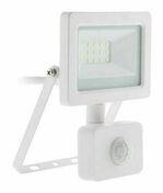Projecteur LED IP44 + détecteur noir - 10W - Projecteurs - Baladeuses - Hublots - Electricité & Eclairage - GEDIMAT