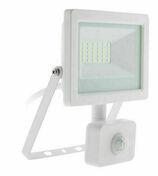 Projecteur LED IP44 + détecteur blanc - 10W - Projecteurs - Baladeuses - Hublots - Electricité & Eclairage - GEDIMAT