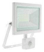 Projecteur LED IP44 + détecteur blanc - 30W - Projecteurs - Baladeuses - Hublots - Electricité & Eclairage - GEDIMAT