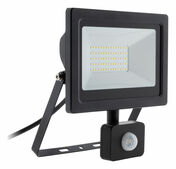 Projecteur LED IP44 + détecteur noir - 50W - Projecteurs - Baladeuses - Hublots - Electricité & Eclairage - GEDIMAT