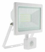 Projecteur LED IP44 + détecteur blanc - 50W - Projecteurs - Baladeuses - Hublots - Electricité & Eclairage - GEDIMAT